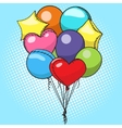 Balloons colorful pop art style vector image