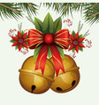 christmas floral ornament with colorful jingle vector image
