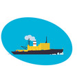 container cargo ship freight transportation vector image
