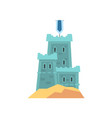 little medieval fortress in blue color old royal vector image