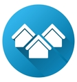 Village Real Estate Gradient Round Icon vector image