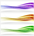 Vivid speed swoosh abstract line banner footer vector image