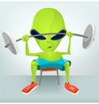 Cartoon Character gym vector image vector image