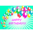 happy birthday poster greeting card vector image