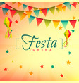 festa junina event festival design vector image