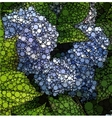 Abstract circles mosaic background nature pattern vector image vector image
