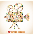 Action movie camera vector image