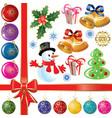 cristmas set vector image