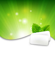 Green Wall With Mint Gum vector image vector image