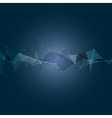 Blue Abstract Triangle Background Modern Design vector image