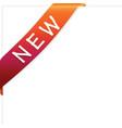 new ribbon vector image vector image