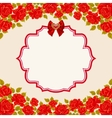 Vintage background with roses Valentines day vector image