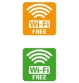 free wi-fi sign vector image vector image