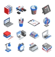Office Tools Isometric Icons Set vector image