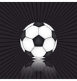 Soccer ball on black background vector image