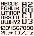 Black font vector image