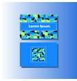 business card template with colorful vector image