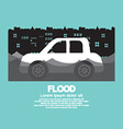 Cars Side View In A Flood vector image