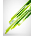 Green straight lines background vector image