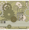 horizontal steampunk gear seamless pattern vector image