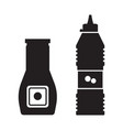 tomato ketchup bottles icons vector image