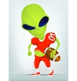 Cartoon alien Football vector image vector image