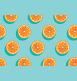 slices of fresh orange summer background vector image vector image