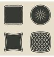 cushion stylized icons set vector image
