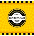 Taxi symbol with checkered background - 24 vector image