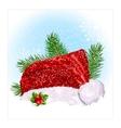 Santas Christmas hat vector image vector image
