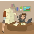 Hard Working cartoon concept vector image