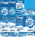 Business Cloud 6 Banner Set vector image vector image