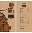 menu for a cafe shop vector image