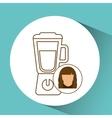 blender icon appliance kitchen female vector image