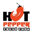 chilli peppers logo design template vector image