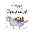 christmas sleigh of santa claus with gifts vector image