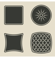 cushion stylized icons set vector image