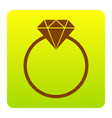 diamond sign brown icon at vector image