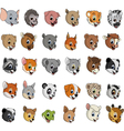 Exotic animals funny vector image