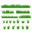 grass borders set green tufts vector image