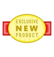 New exclusive product label icon cartoon style vector image