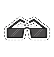 sunglasses accessory fashion cutting line vector image