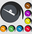 Baseball icon Symbols on eight colored buttons vector image