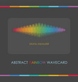 abstract multi color digital equalizer gray card vector image