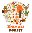 animals of forest part 2 vector image