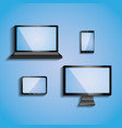 electronic devices with blank screens computer vector image