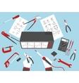 flat electronic repairs vector image