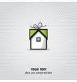gift home icon vector image
