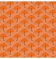 Simple seamless pattern with umbrellas vector image