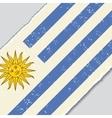 Uruguayan grunge flag vector image